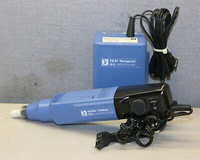 Ika Labortechnik T8 Ultra Turrax Disperser Homogenizer With T8.01 Power Supply