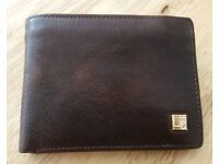 Real leather men's wallet BRAND NEW unused