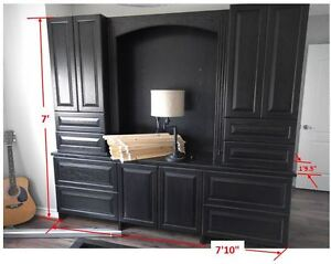 Wood Dresser with TV Opening