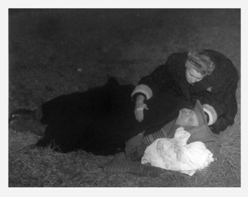 1950s  Nassau Long Island Wife & Cops Helps Crash Victim Photos