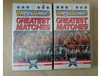 Wrestling VHS tapes