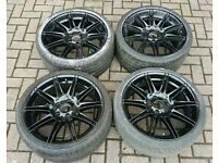 "GENUINE BMW MV4 19"" ALLOY WHEELS SUPERB TYRES 5X120 313 MV3 335 330 M SPORT 325 E90 E92 F"