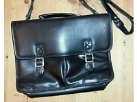 Marks & Spencer Classic Black Leather Satchel