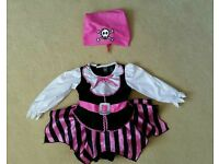 Little girls pirate outfit 9 - 12 months