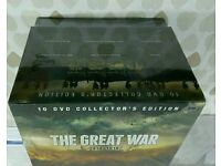 THE GREAT WAR 1914-1918 - 10 DVD COLLECTORS EDITION - MILITARY HISTORY.