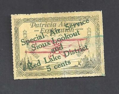Canada SEMI-OFFICIAL AIR SIOUX LOOKOUT & RED LAKE SCOTT CL25c USED (BS19989)