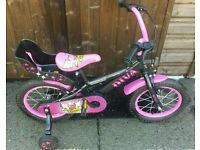 "Townsend 14"" Girls Bike With Stabilisers"