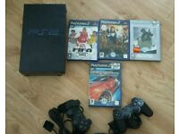 Sony Playstation 2 with 4 Games