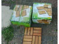 Patio wooden tiles