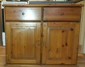 Pine sideboard unit . Cupboard