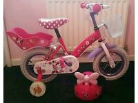 12inch Minnie Mouse Bike with Helmet
