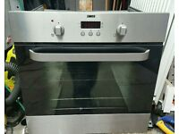 Stainless steel zanussi oven