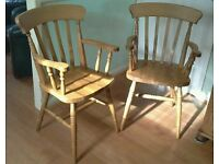 Pine Carver chairs
