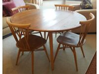 Ercol 376 candlestick chairs and drop leaf table