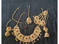Asian / Indian Bridal jewellery. 6 pcs.