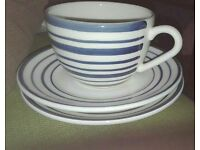 One cup and two saucers