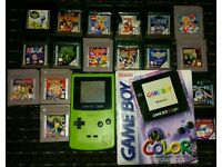 2 Gameboy colours with 19 games