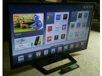 "LG 42"" Slim LED FULL HD SMART TV WITH BUILT IN WiFi FREEVIEW HD, 4X HDMI NEW CONDITION FULLY WORKING"