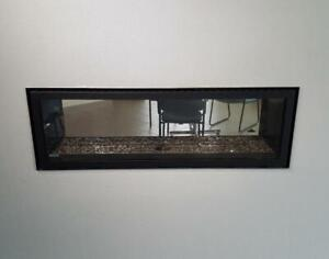SHOWROOM FIREPLACE - NAPOLEON SEE THRU GAS FIREPLACE