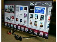 """SAMSUNG 42"""" Ultra-Slim LED FULL HD 3D SMART TV with Built in WiFi, Freeview HD, New Condition."""