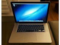 "MacBook Pro 15"" (2012) core i7- 2.3GHz - 8GB - 500GB Hardrive"
