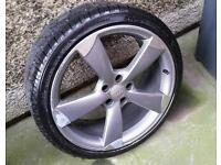 "SINGLE Genuine 20"" Audi ROTOR Alloy A3 A4 S4 A5 S5 A6 VW SEAT"