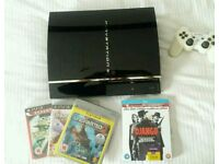 Playstation 3 (Fat) plus games and blu ray