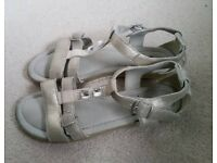 Girls Silver Sandals. Great For That Late Holiday. Size 5.
