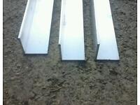 8ft lengths of aluminium metal angles for corner wall protection.
