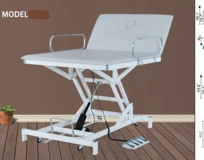 Hi Lo Mat Table Electric For Physical Therapy Grey New With 1 Year Warranty