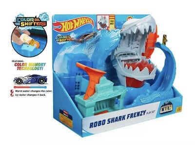 Hot Wheels City Robo Shark Frenzy Play Set Kid Toy Gift