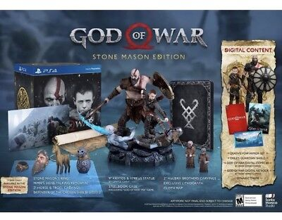 God Of War Stone Mason Collectors Edition   Playstation 4 In Hand  Fast Shipping