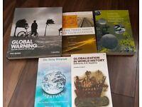 Bundle of University Geography books