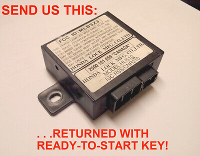 Honda Prelude Acura RL NSX lost key replacement service transponder chip