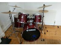 Yamaha Stage Custom Drums with Paiste and Sabian Cymbals!