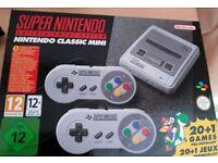 New Super Nintendo SNES classic mini console with 2 controllers & 21 games including Mario & Zelda