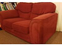 Red sofa (two seater)