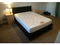 Double Leather Ottoman Storage Bed & Mattress