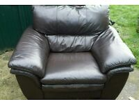 2x brown armchair / FREE DELIVERY