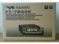 Yaesu FT-7800 Dual Band Transceiver Amateur Ham