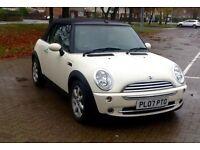 07 Mini One Convertible 1.6cc *Pepper White* Only 48,000 Miles! New Mot * BARGAIN £3900!!