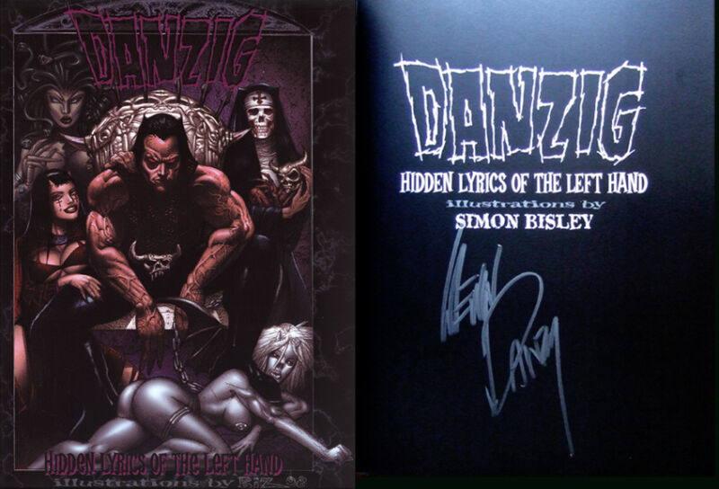 DANZIG HIDDEN LYRICS  VEROTIK DANZIG BISLEY Signed by DANZIG LTD