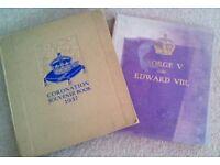 Coronation Souvenir Book and George V/Edward VIII books (1937)