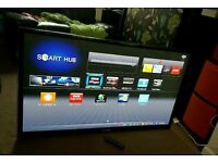 Samsung 55 inch super slim led smart tv excellent condition fully working with remote control
