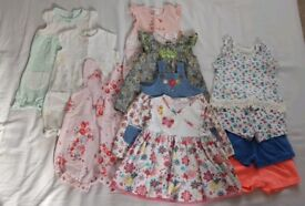 Girls age 3-6mths summer baby clothes bundle