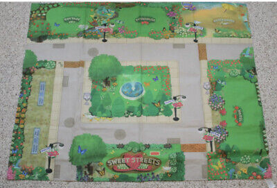 FISHER PRICE SWEET STREETS Dollhouse Main street Floor Mat Road Map 2001