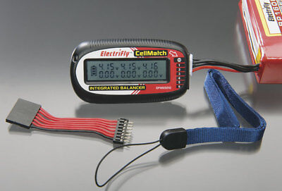 Akkuprüfer LiPo Checker Prüfer CellMatch 2-6S Electrifly LCD GPMM3210