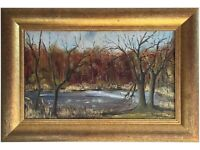 Original Oil Painting titled 'The Kelling Downs, Norfolk' By Shirley Carnt