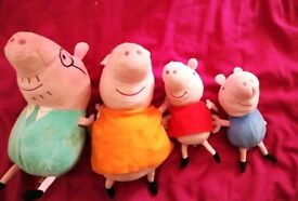 The peppa pig family.