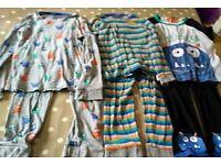 3 pairs of M&S 6-7 year old monster pyjamas